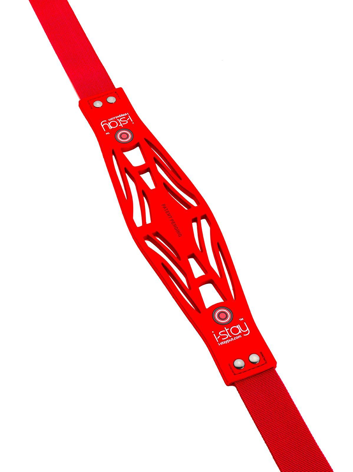 i-stay non slip bag strap red